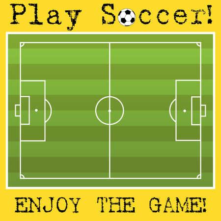 Soccer field Stock Vector - 24441738