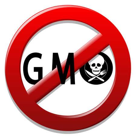 gmo: Stop GMO Illustration