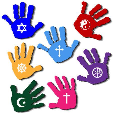 Hands of believers photo