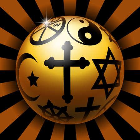 edicto: Bola Religiosa Foto de archivo