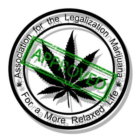 marihuana leaf: Approve marijuana Illustration