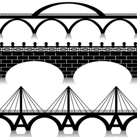 bridged: Bridges set Illustration