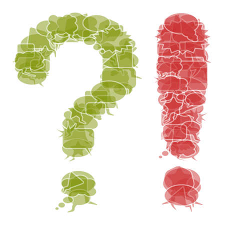 Question and exclamation mark Illustration