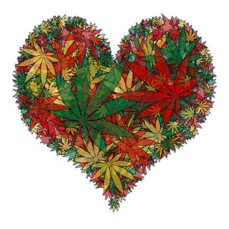 marihuana leaf: Marijuana heart