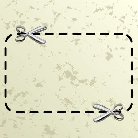 dotted lines: Coupon border Illustration