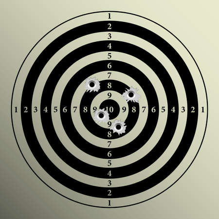semi automatic: Target Stock Photo