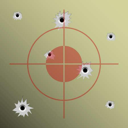 semi automatic: Bullet holes