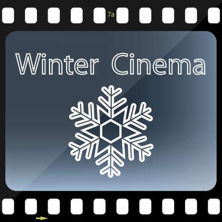 christmas movies: Winter Cinema Illustration