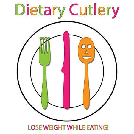 dietary: Dietary Cutlery Illustration