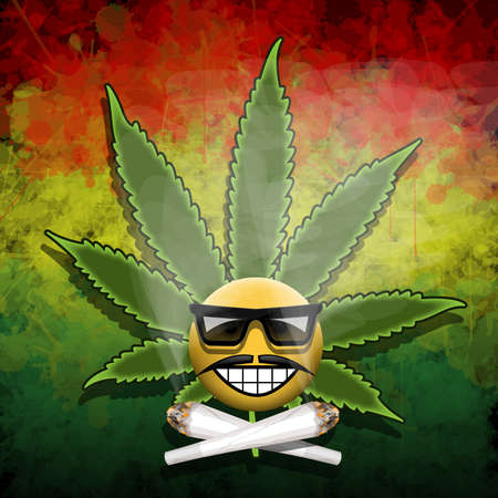 cannabis leaf: Forever smiling