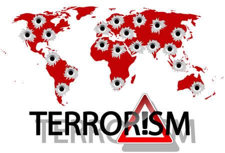 terrorism: Terrorism Illustration