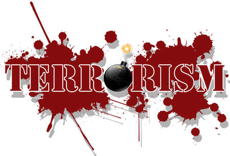 threatened: Terrorism Illustration