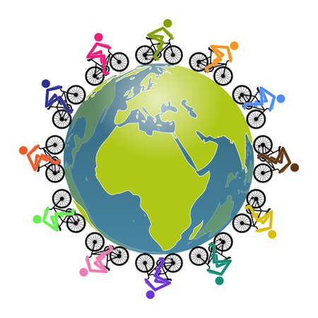 passion ecology: Cycling Illustration