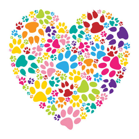 Heart paw print Vettoriali
