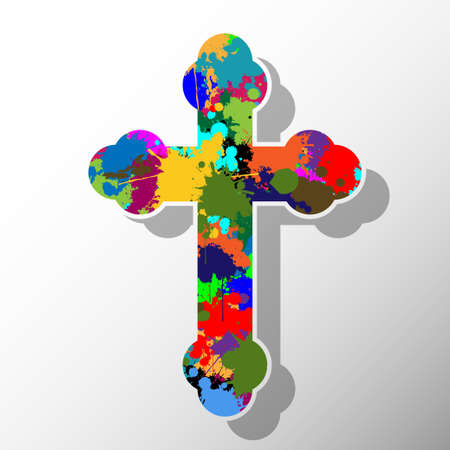 humility: Colorful cross