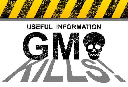 genetically modified: GMO kills Illustration