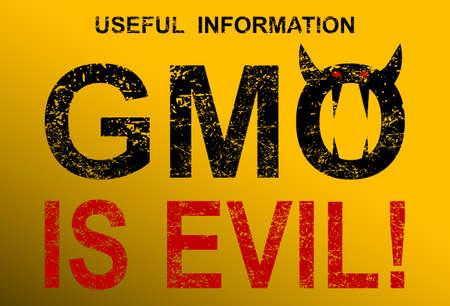 GMO is evil Illustration