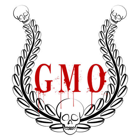 biological warfare: GMO emblem Illustration