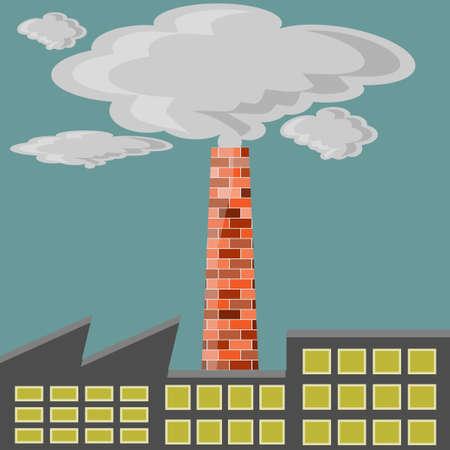 endangerment: Factory polluter Illustration