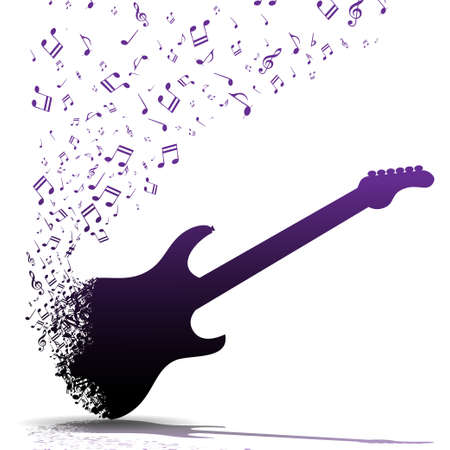 Play guitar Stock Illustratie