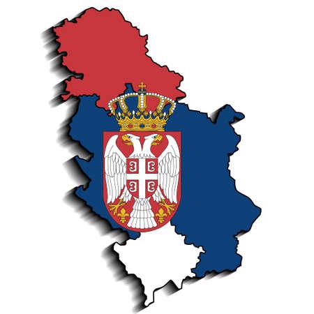 serbia flag: Serbia