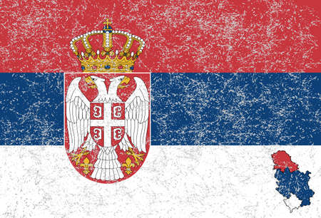 cross and eagle: Serbian flag