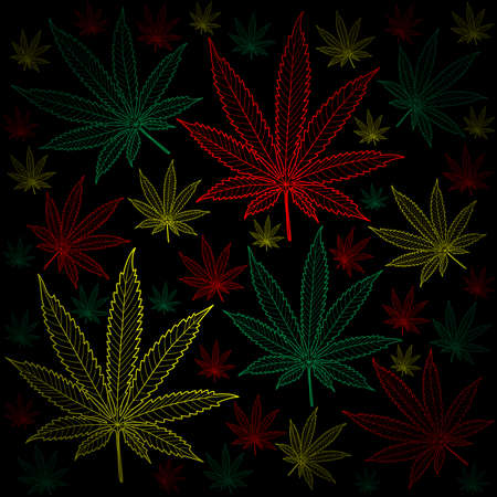 thc: Marijuana-Cannabis-background