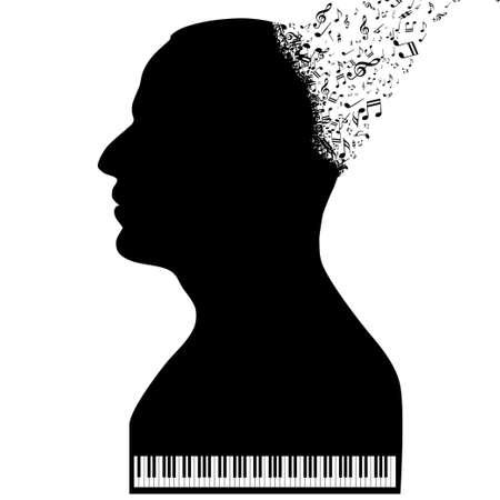pianista: El pianista como un piano