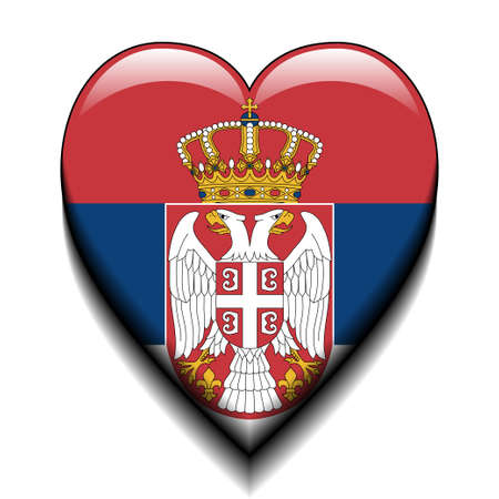 cross and eagle: I love Serbia