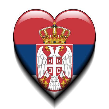 serbia flag: I love Serbia