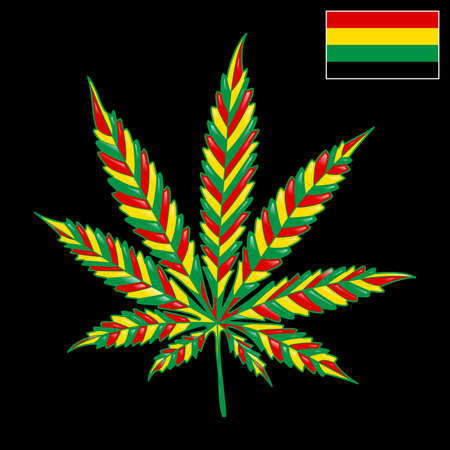 legalize: Marijuana Jamaica-background Stock Photo