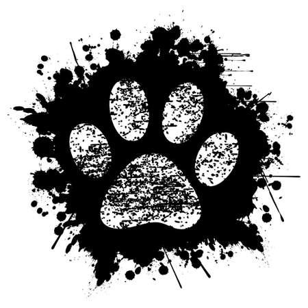 creativity symbol: Paw Print-Ink-Background