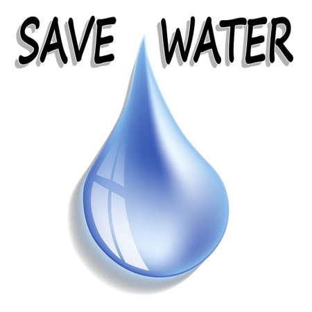 Save water Ilustração