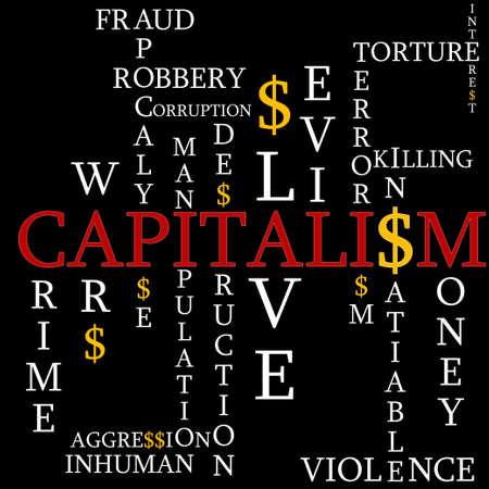 Le capitalisme comme un arrière-plan Vecteurs