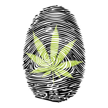 personality character: Fingerprint-Marijuana-print