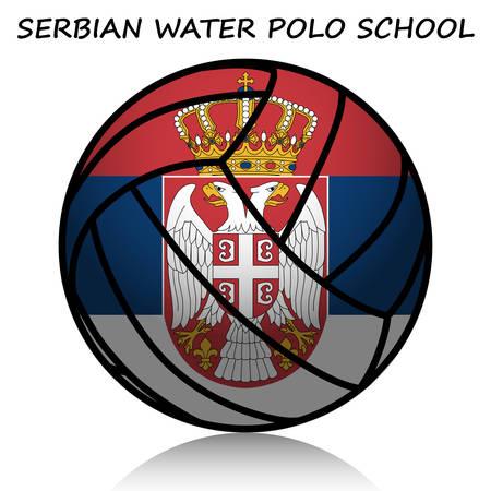 water polo: Serbian water polo school Illustration