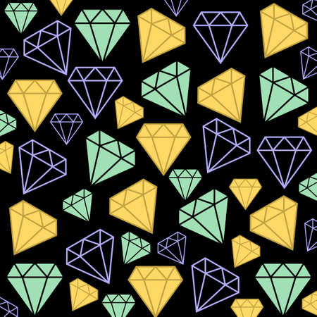 karat: Diamonds as background Illustration