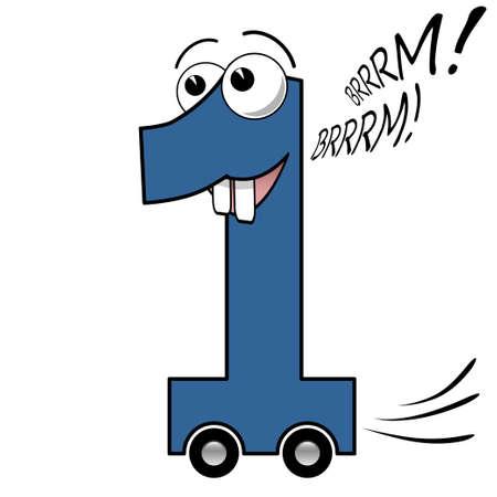 car wheels: Number one cartoon