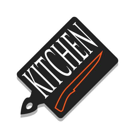 cutting board: A cutting board and knife