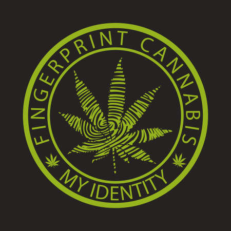 character traits: Fingerprint cannabis-marijuana Illustration