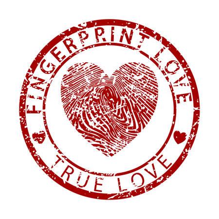 human finger: Fingerprint Love-True Love