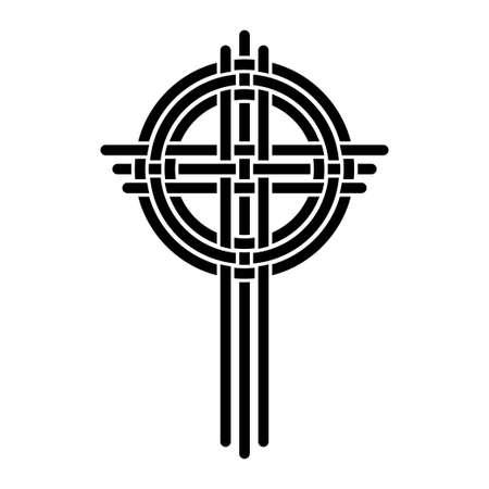 Cross as a Christian symbol Vector Illustration