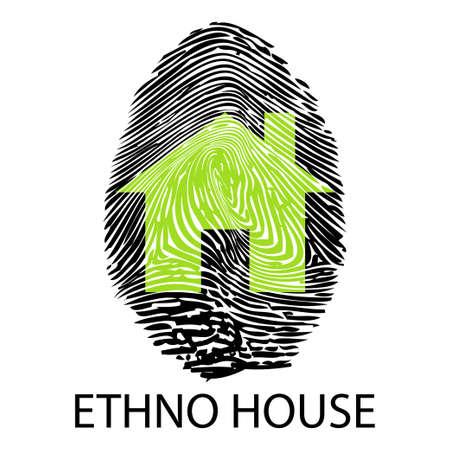 ethno: Ethno house -Fingerprint Illustration