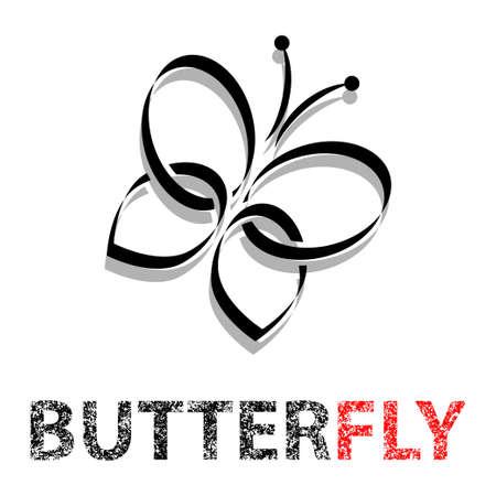 amarillo y negro: Mariposa en vuelo