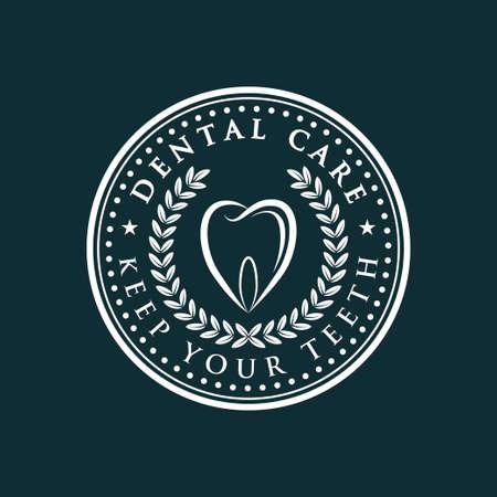 Dental Care-icon over dark green background