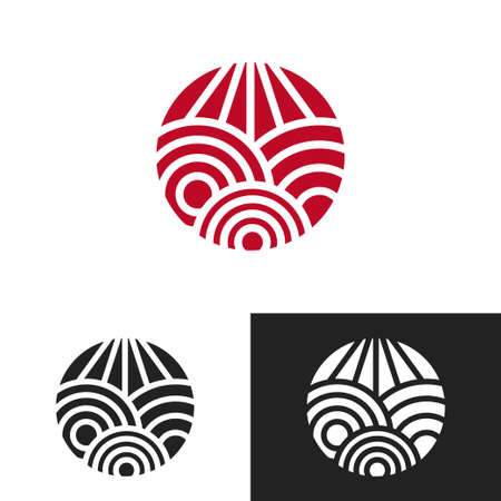 Artistic design, doodle lines in round shape illustration.