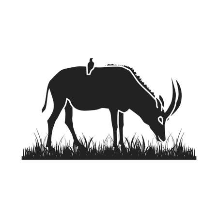 African antelope silhouette