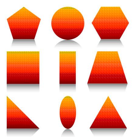 Geometric shapes set Illustration