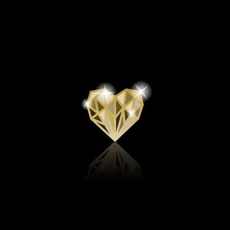 Yellow diamond like heart