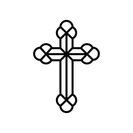 Religious symbol-cross. Illustration Orthodox religious symbol of cross on white background Vectores